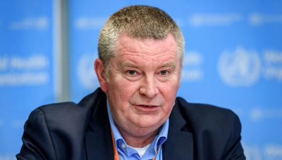 El Director del Programa de Emergencias Sanitarias de la Organización Mundial de la Salud (OMS), Michael Ryan, durante una rueda de prensa diaria sobre el virus COVID-19 en la sede de la OMS en Ginebra. (Foto: Fabrice COFFRINI / AFP).