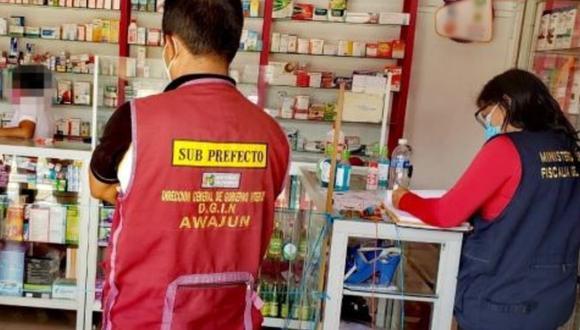 San Martín: Fiscalía encuentra medicinas vencidas y clausura farmacia en Awajún. (Foto: Andina)