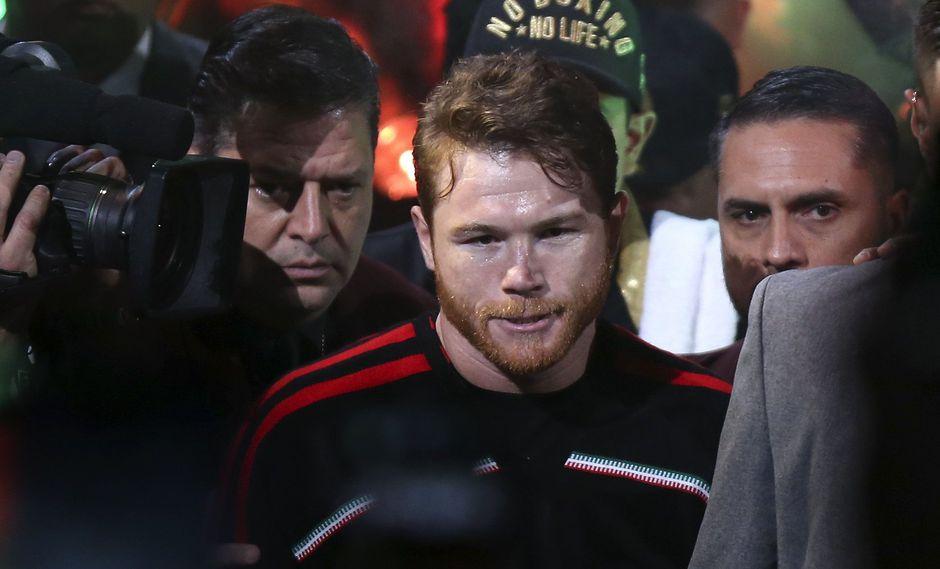 'Canelo' vs. Golovkin EN VIVO vía Space: así fue el espectacular ingreso al ring del boxeador mexicano. (Foto: AFP)