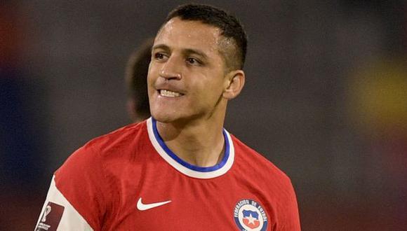 Alexis Sánchez tiene una lesión muscular y no estará en la primera fase de la Copa América 2021. (Foto: AFP)