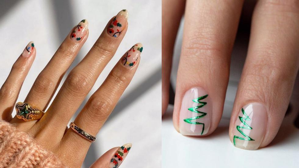 A puertas de la navidad, recopilamos algunos diseños de uñas con motivos festivos que puedes imitar. (Fotos: IG @goscratchit/drybylondon)