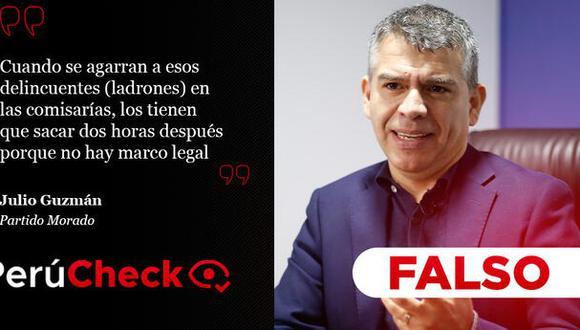 PerúCheck. Las afirmaciones del líder del Partido Morado fueron sometidas a fact checking.