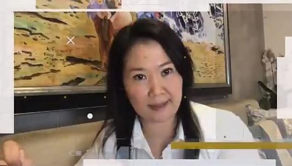 Keiko en su último mensaje, a propósito de la clausura de la Escuela Naranja.
