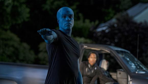 """El Dr. Manhattan, en una de las escenas cumbre de """"Watchmen"""". Foto: HBO."""