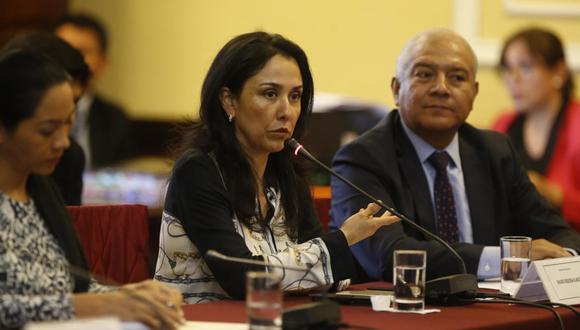 La ex primera dama Nadine Heredia enfrenta un pedido de 36 meses de prisión preventiva por el Caso Gasoducto. En la foto aparece junto a su abogado Wilfredo Pedraza. (Foto: Mario Zapata/ GEC).