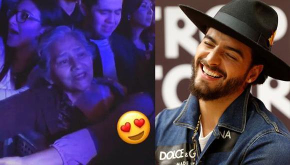El cantante colombiano agradeció a esta peculiar fan de uno de sus shows. (Fotos: Instagram/Agencias)
