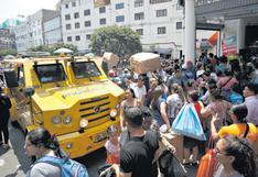 El caos que pone en riesgo a comercios del Centro de Lima   CRÓNICA