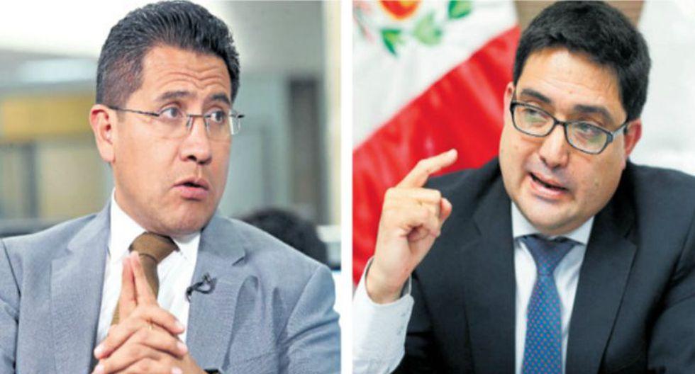 La procuraduría ad hoc para el Caso Lava Jato, a cargo de Jorge Ramírez (derecha), respondió a través un comunicado a la denuncia del procurador anticorrupción Amado Enco.