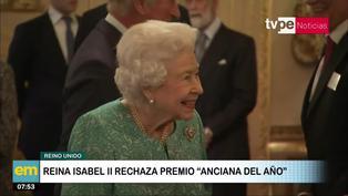 """Reino Unido: Isabel II rechazó premio a """"Anciana del año"""""""