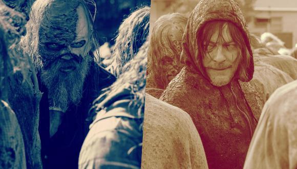 """De izquierda a derecha, Ryan Hurst (Beta) y Norman Reedus (Daryl); quienes viven su batalla final en """"The Walking Dead"""" 10x16. Foto: AMC."""