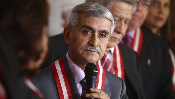 Duberlí Rodríguez dejó el cargo de presidente del Poder Judicial este 19 de julio. (USI)