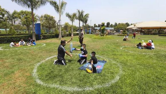 Los clubes y parques zonales permitirán el 60% del aforo máximo permitido. Los visitantes deberán seguir los protocolos de seguridad. (Foto: Andina)