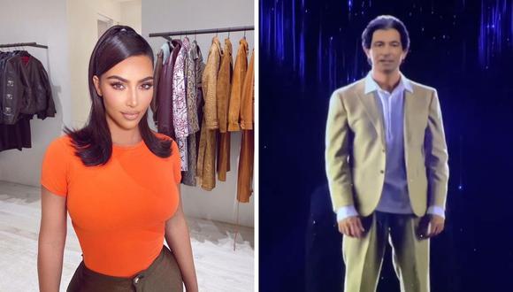 Kim Kardashian fue sorprendida por su esposo Kanye West, quien en su fiesta de presentó un holograma de su padre fallecido Robert Kardashian. (Foto: Instagram / @kimkardashian).