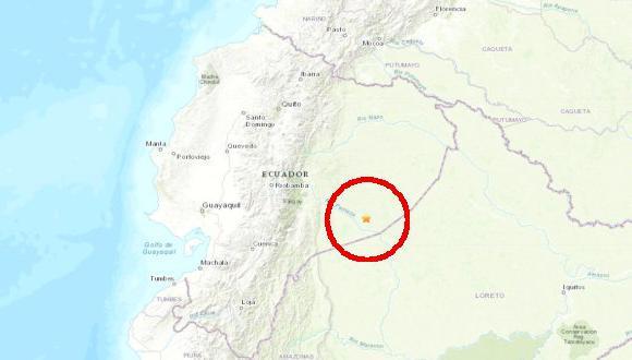 El sismo de 7,7 se registró en Ambato, Ecuador, reportó el Servicio Geológico de Estados Unidos (USGS). (Foto: USGS)