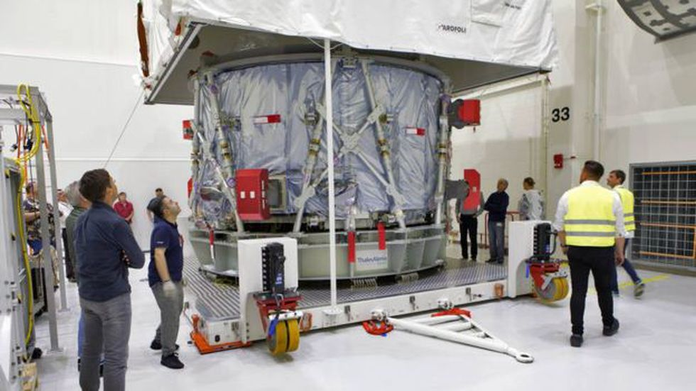 La NASA recibió este viernes el módulo creado por la Agencia Espacial Europea. (Foto: NASA)