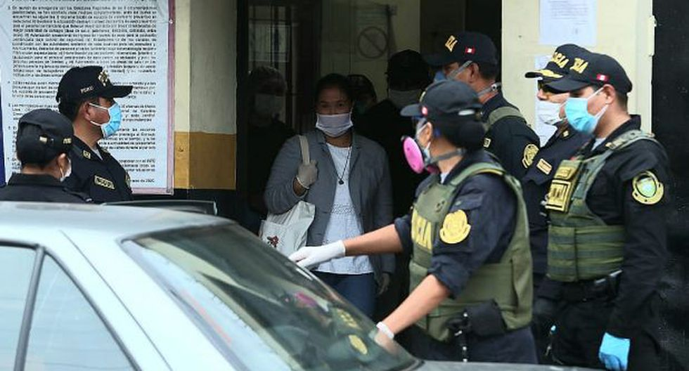 Keiko Fujimori dejó el penal Anexo de Mujeres de Chorrillos este lunes por la tarde. (Foto: Alessandro Currarino/ GEC)