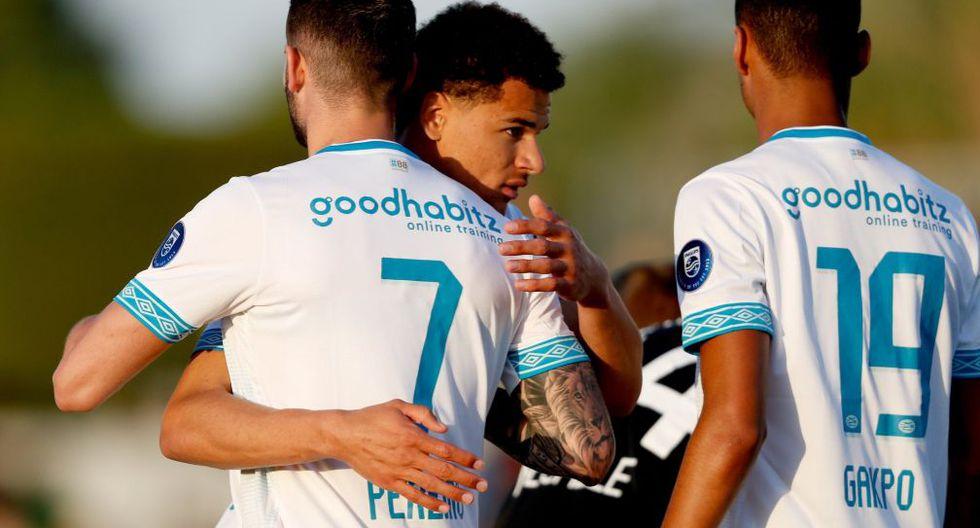 PSV ganó 2-1 a Brujas con un gol de Gastón Pereiro en amistoso disputado en Qatar. (Foto: Twitter PSV)