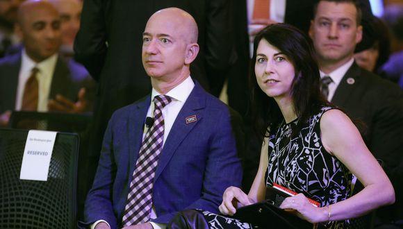 Jeff Bezos, el hombre más rico del mundo, se divorcia de su esposa MacKenzie. Foto: AFP