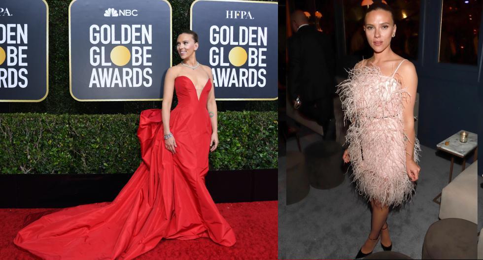 Scarlett Johansson brilló como una de las celebridades mejor vestidas de los Golden Globes 2020. En esta galería, descubre los detalles de sus dos tenidas. (Fotos: AFP/ IG)