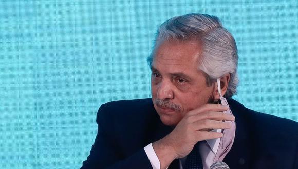 Imagen del presidente de Argentina, Alberto Fernández, durante un acto en Buenos Aires, Argentina. (EFE/Juan Ignacio Roncoroni).