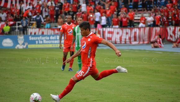 Los 'Diablos Rojos' y el cuadro 'Verdolaga' se enfrentan este domingo en el duelo estelar por la jornada 15 del torneo colombiano. (Foto: Twitter América de Cali)