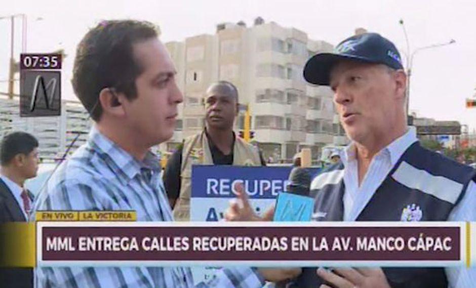 Alcalde de Lima explicó el motivo por el cual la comuna no aceptó el proyecto de pintado de murales en la Vía Expresa. (Foto: Captura Canal N)