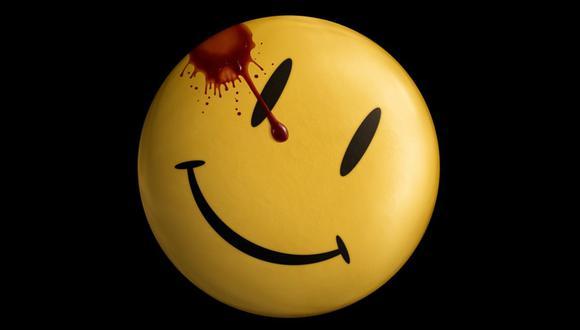 """El 'smiley' ensangrentado, símbolo de """"Watchmen"""" desde que solo era un cómic.  (Foto: Warner Bros.)"""