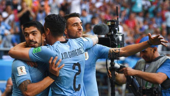 Uruguay derrotó 1-0 a Arabia Saudita por la segunda fecha del Grupo A del Mundial Rusia 2018. Luis Suárez fue el autor del único gol del partido. (Foto: AFP)