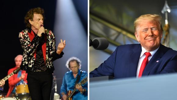 La banda británica Rolling Stones señaló que no están a favor que Donald Trump use su música para campañas políticas.(AFP).