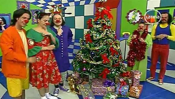 """El elenco de """"Pataclaun"""", en uno de sus episodios por Navidad. Foto: Latina."""