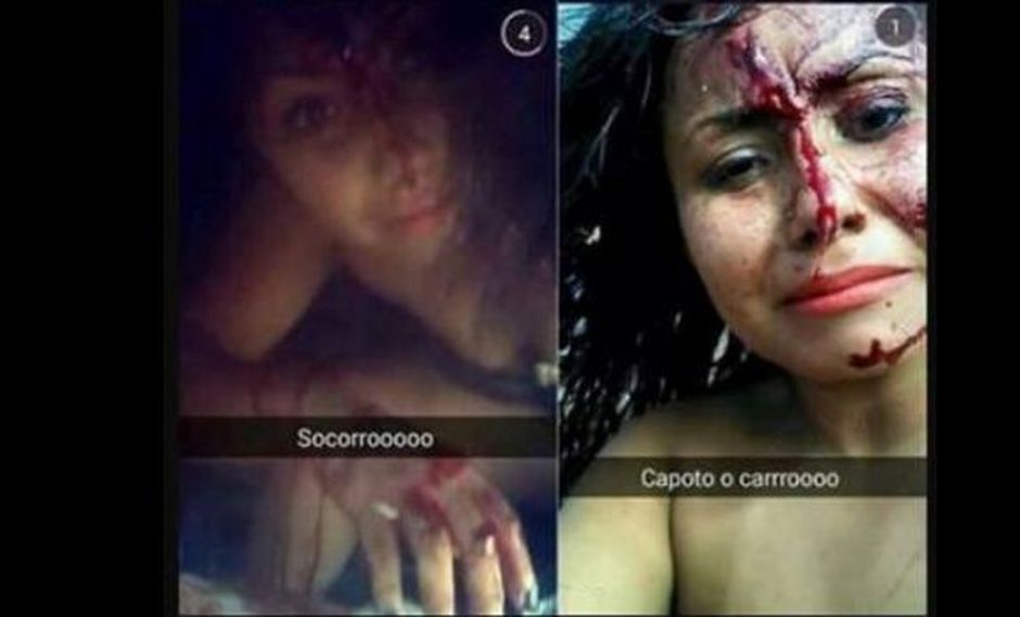 Snapchat: mujer se toma 'selfies' tras accidente de carro