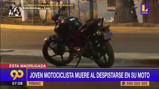 Rímac: Joven pierde la vida tras sufrir accidente en su moto