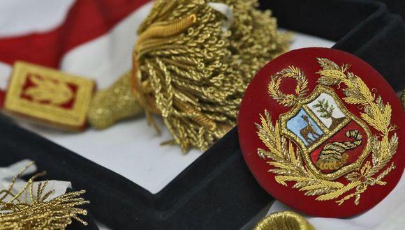 La banda presidencial de Perú es, junto al Gran collar de brillantes, la Placa presidencial y el Bastón de mando, uno de los distintivos que ostenta el presidente dela República (Foto: Andina)
