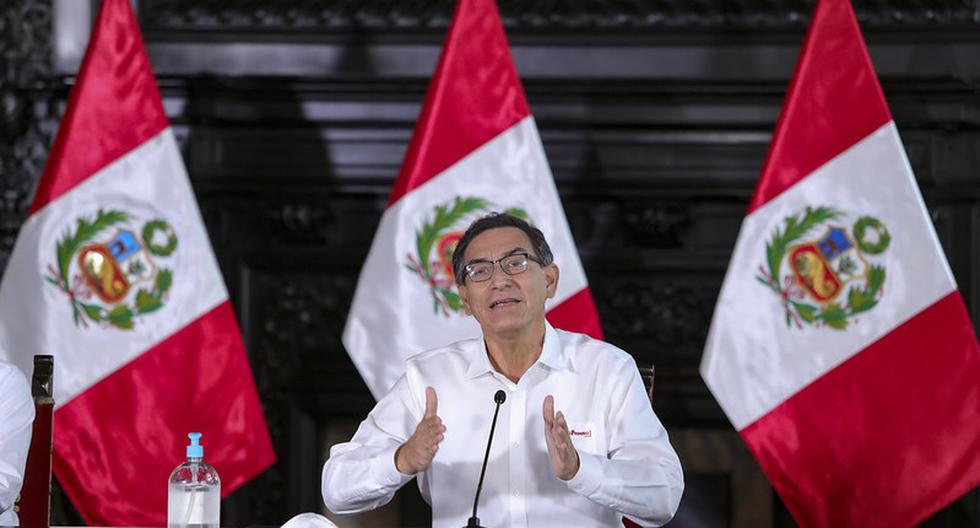 Martín Vizcarra informó sobre la situación actual de los peruanos que han retornado al país tras quedar varados por el estado de emergencia por coronavirus. (Foto: Presidencia).