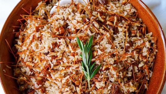 El arroz árabe es ideal para acompañar con carne de pollo, res o cerdo. (Foto: @eating.with.andy / Instagram)