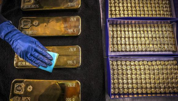 Los futuros del oro en Estados Unidos caían un 0,1% a US$1.775,70. (Foto: AFP)