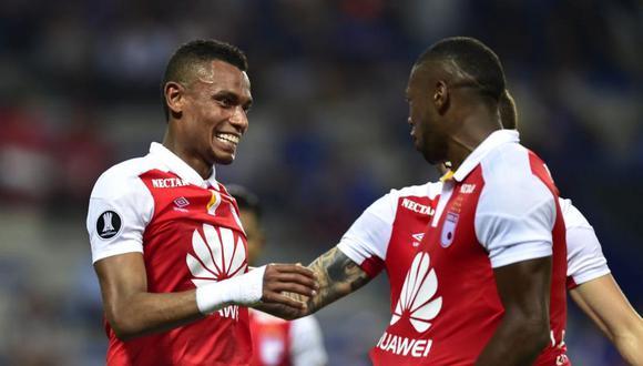 Independiente Santa Fe superó por 3.0 en su visita a Emelec por la jornada 6 de la Copa Libertadores. El cuadro colombiano se ubicó tercero del Grupo D del torneo. (Foto: Twitter)