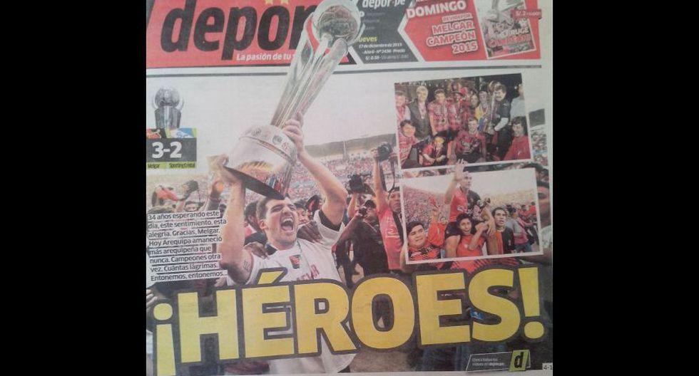 Melgar campeón nacional: las portadas de diarios en Arequipa - 5