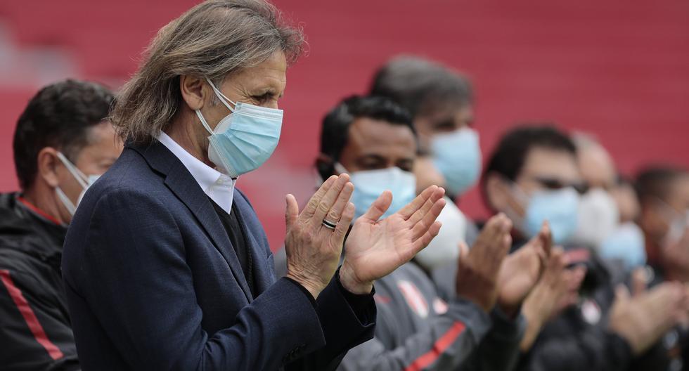 Ricardo Gareca, como técnico de Perú, obtuvo un triunfo por Eliminatorias después de casi tres años y medio.(AP Photo/Franklin Jacome/Pool via AP)