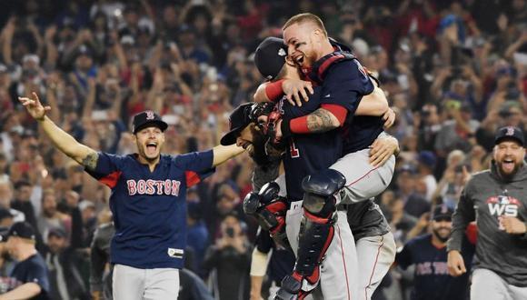 Los Boston Red Sox ganaron la Serie Mundial de béisbol el último fin de semana al vencer por 4-1 a Los Angeles Dodgers. (AFP)