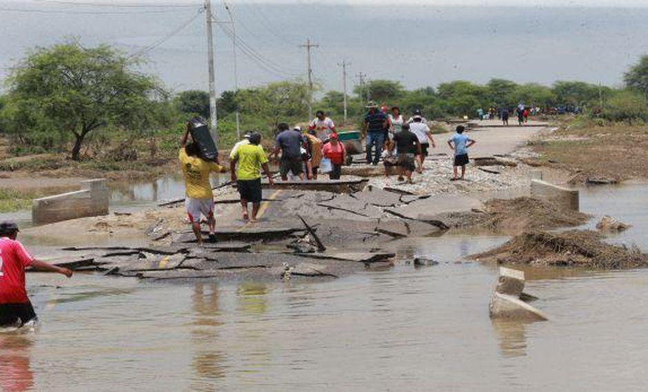 De acuerdo con el Centro de Operaciones de Emergencia Nacional (COEN), las lluvias de El Niño Costero de este año dejaron en Piura 91 mil damnificados, 310.570 afectados, 17 fallecidos, 39 heridos, 4 desaparecidos (Foto: Ralph Zapata)