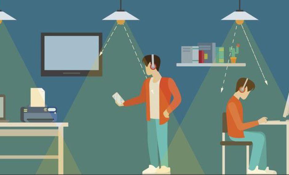 El Li-Fi solo funciona dentro del cono de la luz. Muévete más allá y pierdes conectividad. (Foto: Getty Images)