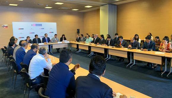 El presidente Martín Vizcarra dio este discurso al inicio de su reunión con las autoridades de la AMPE. (Foto: Difusión)