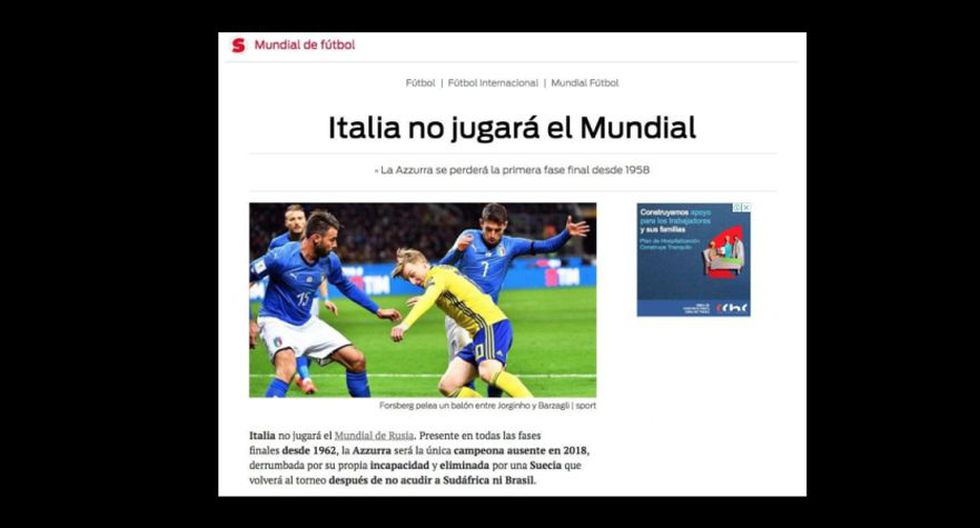 Sport - España. (Foto: captura de pantalla)