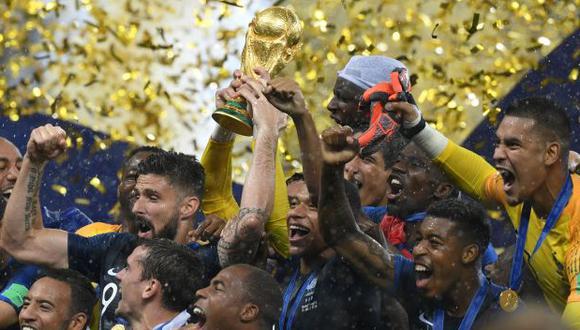 Así fue la eufórica celebración de Francia en los vestuarios tras título. (AFP)