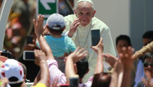 """""""He deseado mucho este encuentro, quise empezar por aquí la visita a Perú"""", dijo el Papa en el coliseo antes de empezar sus discurso. (Foto: Lino Chipana)"""