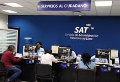 SAT señaló que el 31 de mayo vence plazo de la segunda cuota de tributos para contribuyentes del Cercado de Lima