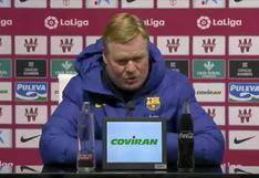 """Koeman: """"La mejoría en nuestro juego nos da confianza a todos"""""""