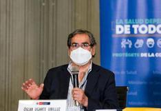 """Ministro Ugarte: """"La fase 1 de vacunación debería culminarse en el transcurso de marzo, salvo ocurra algunos incidentes"""""""