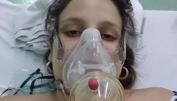 Lydda María Rivero, de 23 años, a punto de dar a luz a su segundo bebé. (LENIER MIGUEL PÉREZ)